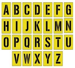 Alphabet 300mm