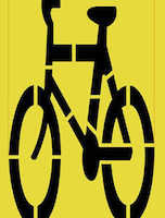 Bike Lane Road Stencil