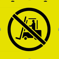 No Forklift in Cirlce